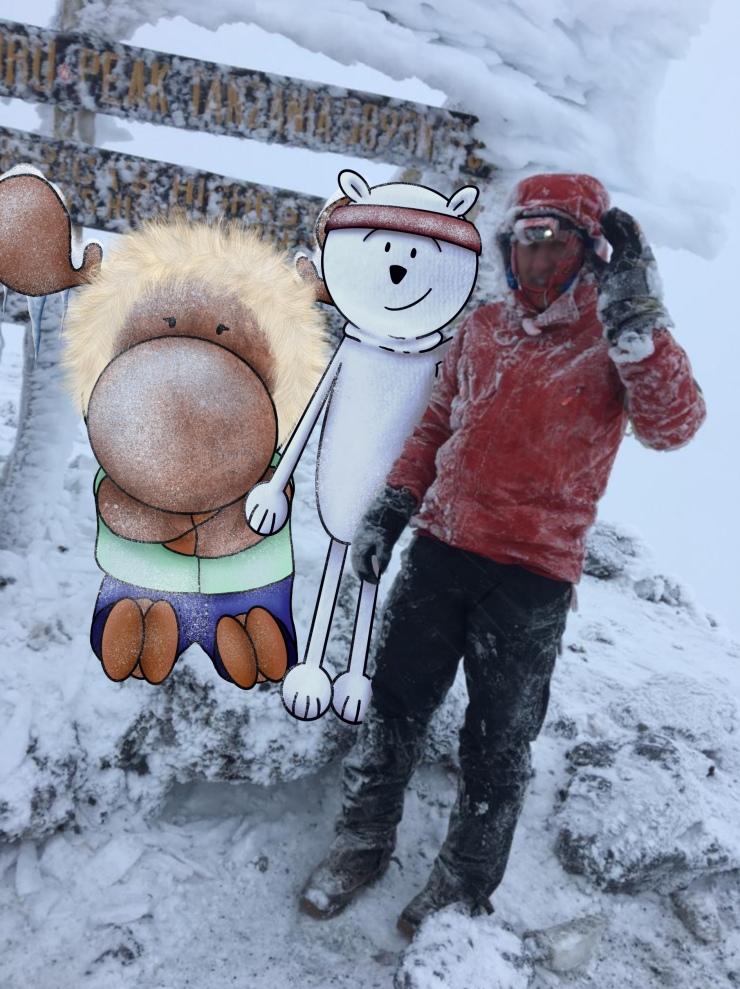 Chris, Polie and Wic at Mount Kilimanjaro Summit